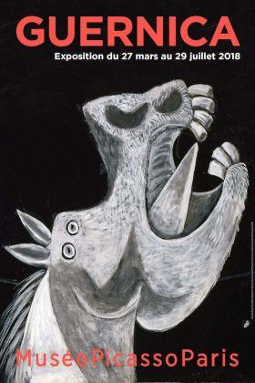 Pablo Picasso, Étude pour Guernica (Tête de cheval), Paris, 2 mai 1937, huile sur toile, 64 x 90,5 cm, 65 x 92 © Photographic Archives Museo Nacional Centro de Arte Reina Sofia, 1992. © Succession Picasso 2017