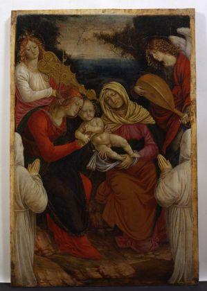 Gaudenzio Ferrari, Madonna con il Bambino, Sant'Anna, angeli musicanti e i donatori, 1508-09. Musei Reali di Torino, Galleria Sabauda