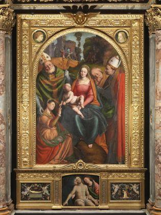 Gaudenzio Ferrari, Sposalizio mistico di Santa Caterina, 1530-35 ca. Cattedrale di Santa Maria Assunta, Novara. Photo Mauro Magliani, Barbara Piovan, Marco Furio Magliani