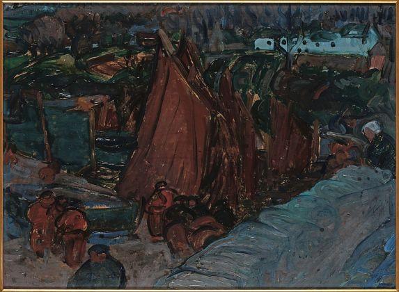 Gino Rossi, Paesaggio nordico con barche a vela, 1911-12. Collezione Fondazione Cariverona. Archivio Fotografico Fondazione Cariverona, photo Saccomani