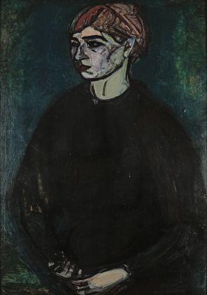 Gino Rossi, Ritratto di signora, 1914. Collezione Fondazione Cariverona. Archivio Fotografico Fondazione Cariverona, photo Saccomani