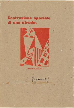Giorgio Riccardo Carmelich, Costruzione spaziale di una strada, 1924. Torino, Collezione Marco Viglino. Photo Padovan, Torino
