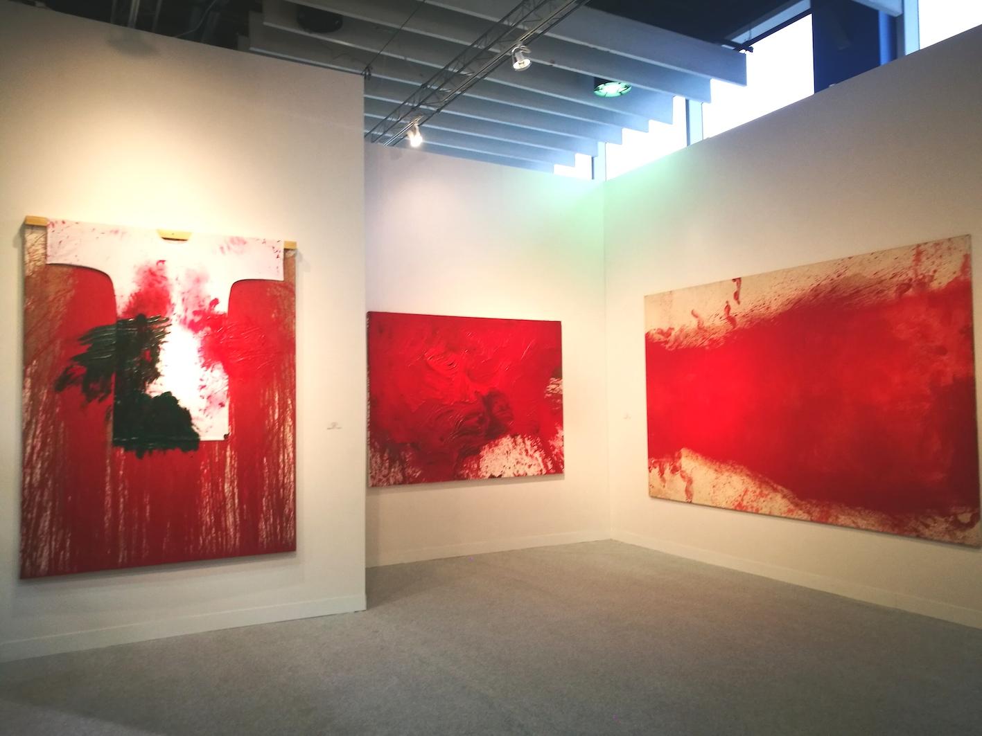 Hermann Nitsch, installation view Marc Straus New York, ph. Mariacristina Ferraioli