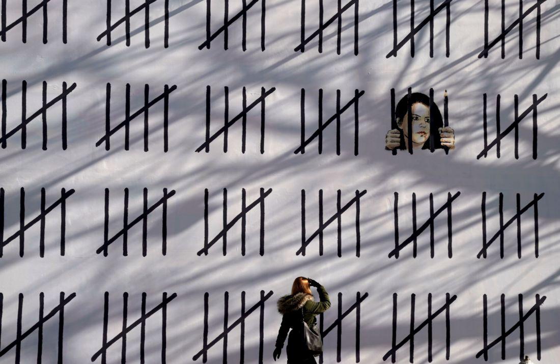 Il muro di Banksy in sostegno di Zehra Dogan, New York, 2018