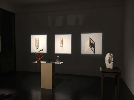 Ilaria Gasparroni. Di carne e di marmo il desiderio. Exhibition view at Cubo Gallery, Parma 2018