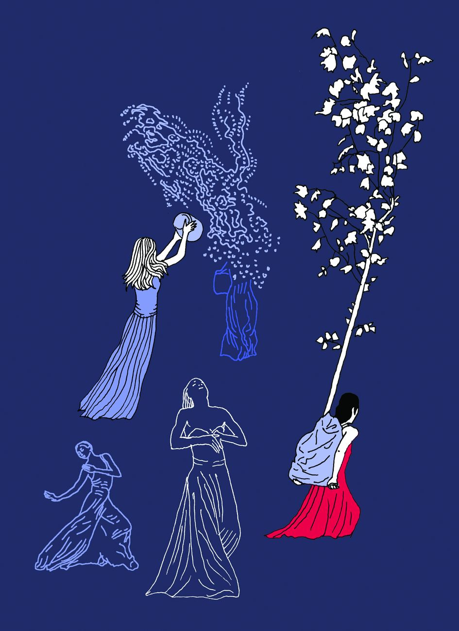 Illustrazione di Pia Valentinis per Quello che ci muove. Una storia di Pina Bausch di Beatrice Masini. Courtesy rueBallu