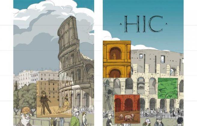 Fumetti nei Musei, Roberto-Grossi-nel-Parco-Archeologico-del-Colosseo
