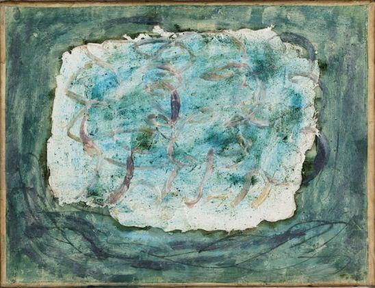 """Jean Fautrier (1898-1964). """"Forêt"""". Huile sur papier marouflé sur toile. 1943. Paris, musée d'Art moderne"""