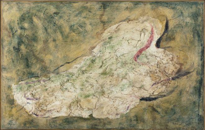 Jean FAUTRIER, La Juive, 1943, Don de l'artiste en 1964, Musée d'Art moderne de la Ville de Paris, Crédit photographique Eric EmoParisienne de Photographie © Adagp, Paris, 2017