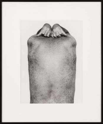John Coplans, Self Portrait, Back and Hands, 1984 © The John Coplans Trust. Courtesy The John Coplans Trust, Galerie Nordenhake Berlin Stockholm, P420, Bologna