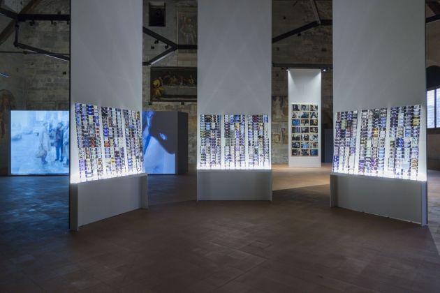 Jonas Mekas. Exhibition view at Palazzo della Ragione, Bergamo 2018. Photo Maria Zanchi