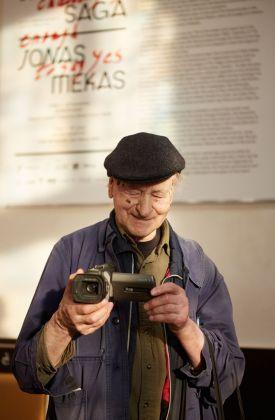 Jonas Mekas. Photo Giulio Favotto. Courtesy the artist & APalazzo Gallery
