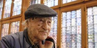 Jonas Mekas. Photo Marco Secchi. Courtesy the artist & APalazzo Gallery