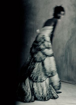 Junon dress Autumn-Winter 1949 Haute Couture collection Milieu du Siecle line by Christian Dior ® Paolo Roversi