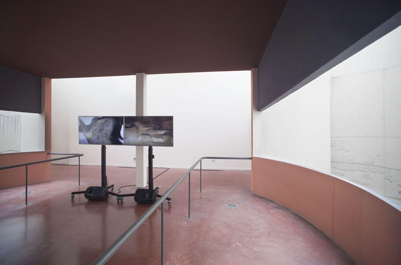 Katarina Zdjelar. Ungrammatical. Installation view at Padiglione de l'Esprit Nouveau, Bologna 2018. Photo Matteo Monti