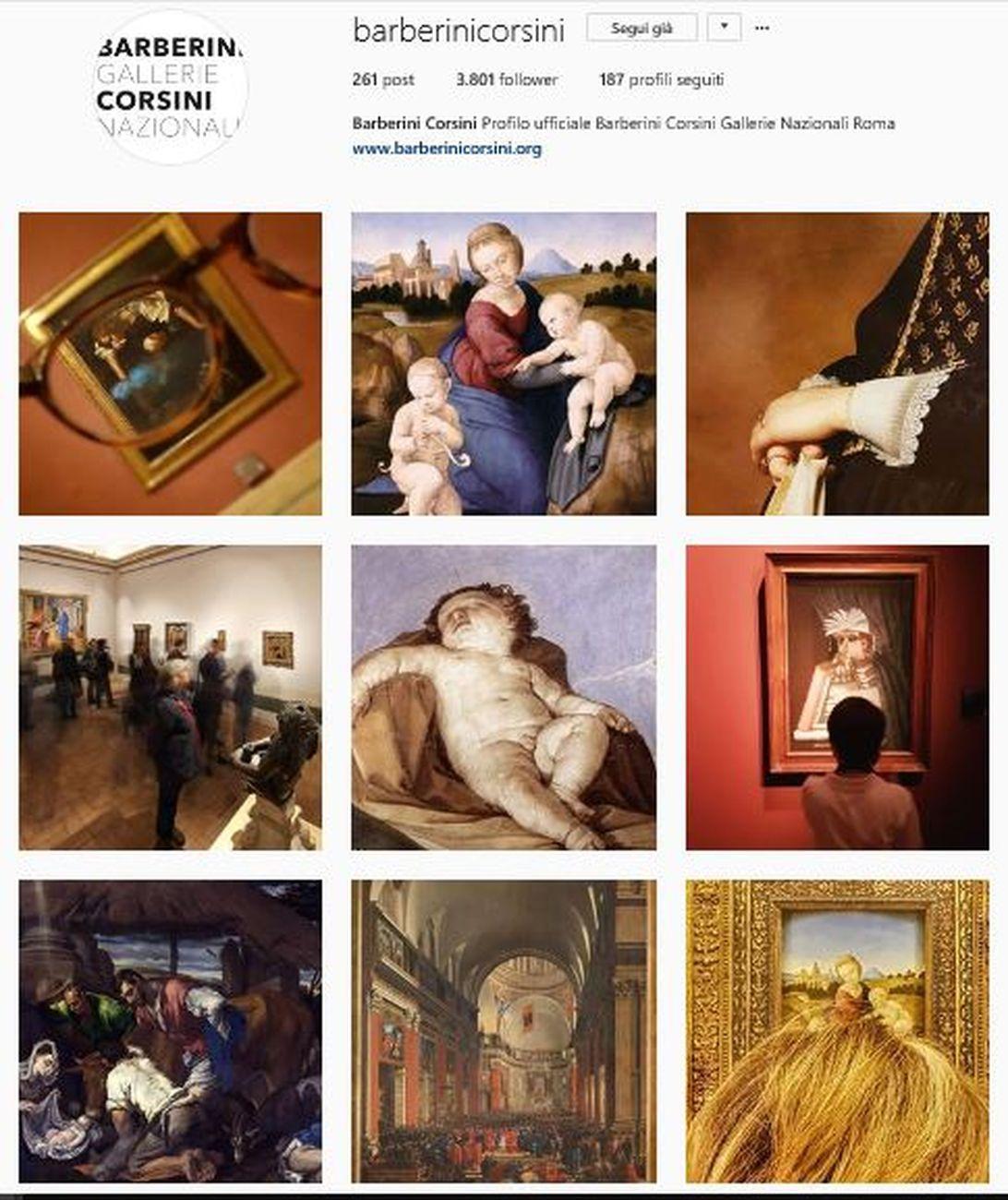 Il sito Internet delle Gallerie Nazionali di Arte Antica di Roma Palazzo Barberini e Galleria Corsini