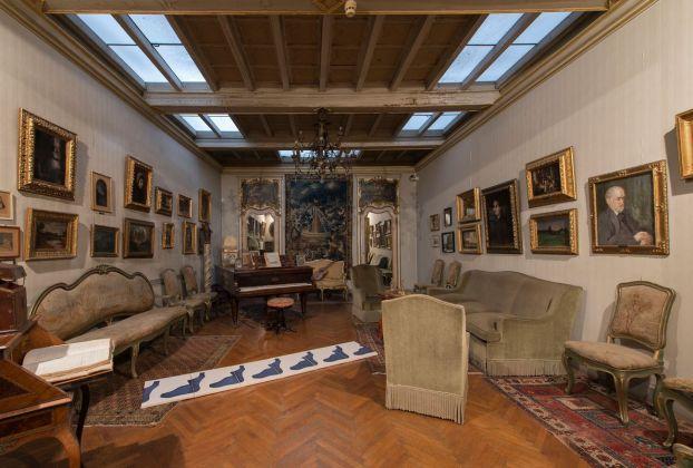 Landon Metz, exhibition view at Museo Pietro Canonica, Roma 2018, photo credit Giorgio Benni