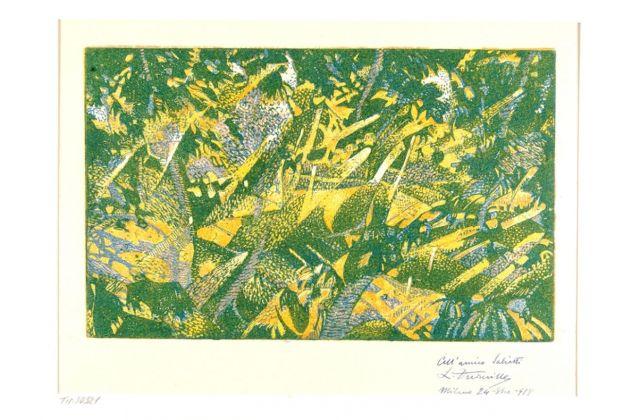 Leonardo, Il bosco dei castagni (Composizione), 1917. Bologna, Pinacoteca Nazionale di Bologna. Gabinetto disegni e stampe. Polo museale dell'Emilia Romagna