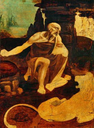 Leonardo da Vinci, San Girolamo nel deserto, 1490 ca. Pinacoteca vaticana, Città del Vaticano. Photo © Governatorato dello Stato della Città del Vaticano – Direzione dei Musei