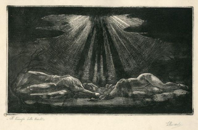 Luigi Russolo, Trionfo della morte, 1908-09. Milano, Civica raccolta delle stampe Achille Bertarelli - Castello Sforzesco