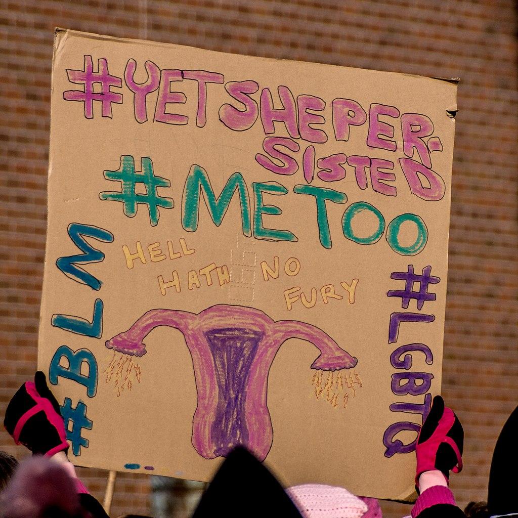 Manifestazione del movimento MeToo a New York