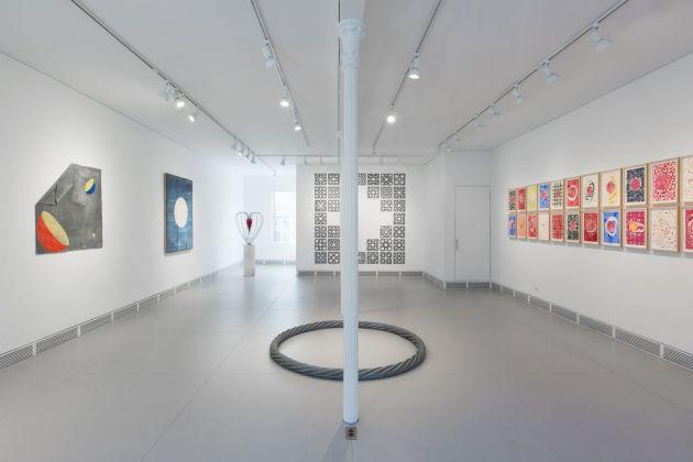 Marco Bagnoli, Domenico Bianchi, Remo Salvadori. Installation view at Garrison Art Center, New York 2018. Courtesy Magazzino Italian Art. Photo Alexa Hoyer