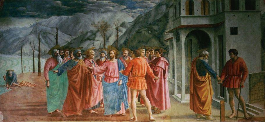 Masaccio, Pagamento del tributo, 1425 ca. Chiesa di Santa Maria del Carmine, Firenze