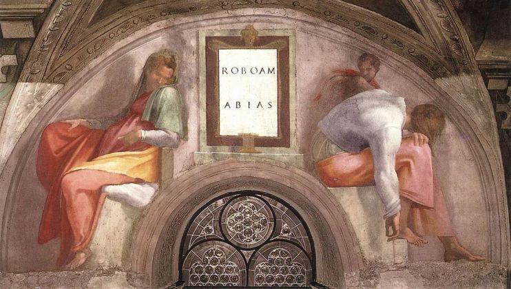 Michelangelo, Cappella Sistina. Roboamo e Abia