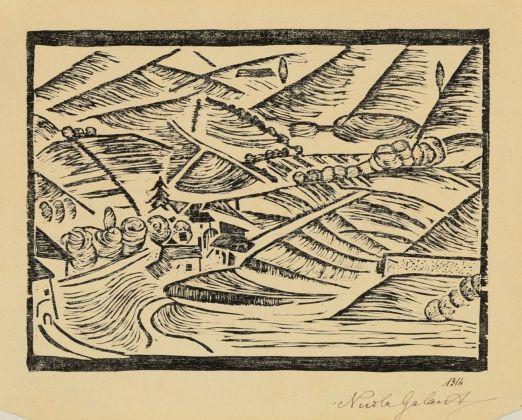 Nicola Galante, Sintesi di paese, 1915. Torino, Collezione Marco Viglino. Photo Padovan, Torino