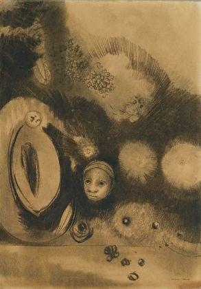 Odilon Redon Face germination, 1888, private collection
