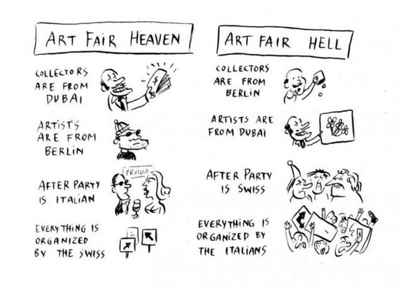 Pablo Helguera, Artoon. Art fair heaven and hell