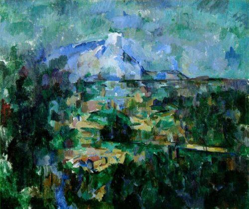 Paul Cézanne, La montagna Sainte Victoire vista da Lauves, 1905 ca. Kunstmuseum Basel