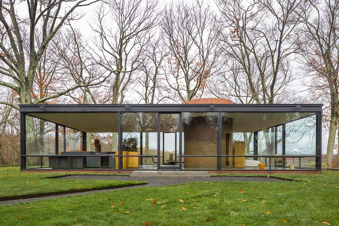 philip johnson the glass house new canaan 1949 artribune. Black Bedroom Furniture Sets. Home Design Ideas