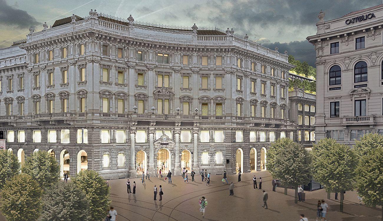 Piuarch, Palazzo Broggi in Piazza Cordusio (Milano). Courtesy Piuarch