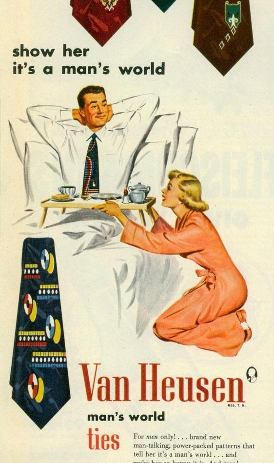 Pubblicità cravatte Anni '50, dettaglio