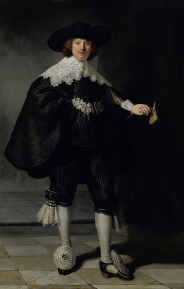 Rembrandt van Rijn, Ritratto di Marten Soolmans e Oopjen Coppit. 1634 Gezamenlijke aankoop van de Staat der Nederlanden en de Republiek Frankrijk, collectie Rijksmuseum/collectie Musée du Louvre, 2016