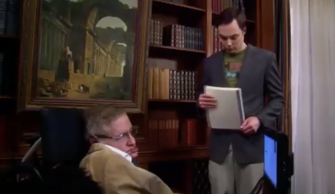 Cameo di Stephen Hawking in una puntata di The Big Bang Theory