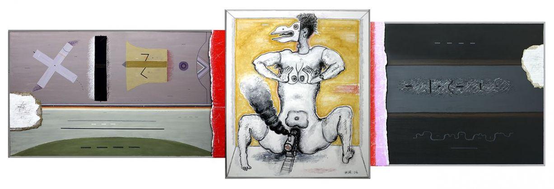 Vladimir Yankilevsky, Triptych No. 25. Metamorphosis, 2008