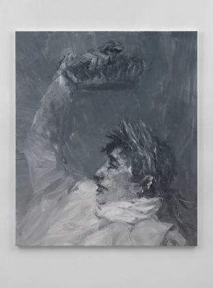 Yan Pei Ming, Napoleon, Crowning Himself Emperor – Grey, 2017, Massimo De Carlo