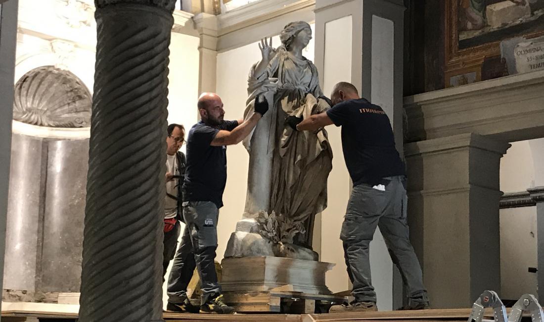 Il restauro della Santa Bibiana courtesy Galleria Borghese, Roma