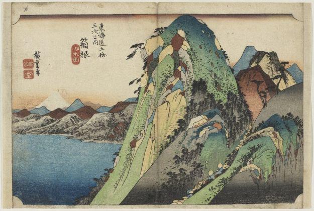 Utagawa Hiroshige, Hakone Vista del lago, 1833–34 circa, silografia policroma, Museum of Fine Arts, Boston - William Sturgis Bigelow Collection