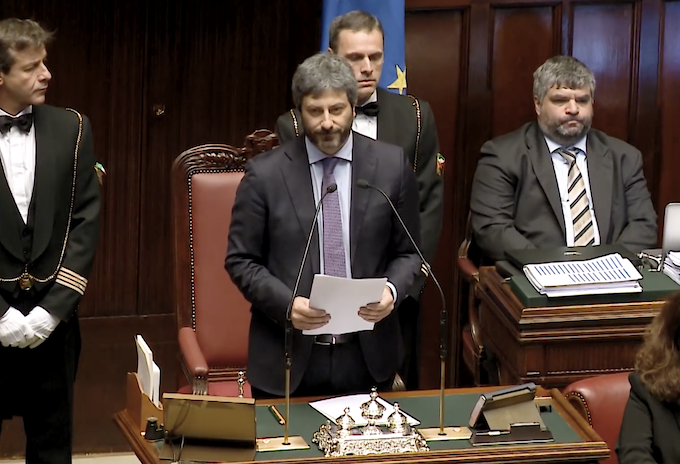 Roberto Fico alla Camera dei Deputati