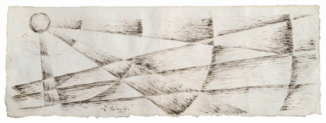 Luigi Russolo, Studio del tema del quadro - Solidità nella nebbia, 1912