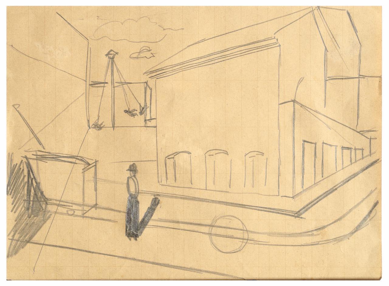 Mario Sironi, Paesaggio urbano, 1919