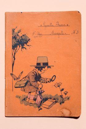 1925, quaderno dei compiti di una bambina di seconda elementare