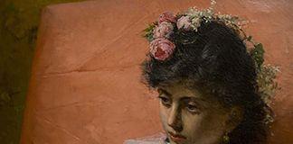 NAPOLI. MUSEO E REAL BOSCO DI CAPODIMONTE. Vincenzo Busciolano, UNA POVERA SAFFO, PARTICOLARE, 1876