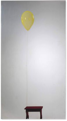 Pistoletto, Palloncino giallo con sgabello, 1982