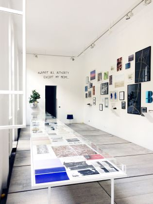 Processo alla Natura, 2018, veduta della mostra libri d'artista Collezione Maria Calderara e Novelio Furin