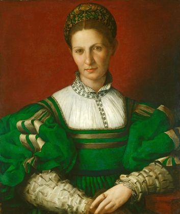 Agnolo Bronzino, Ritratto di dama in verde, 1530-32. Hampton Court, Royal Collection