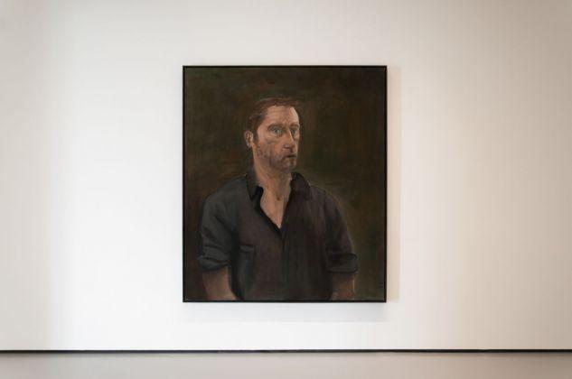 Albert Oehlen, Autoritratto con bocca aperta, 2001. Installation view at Palazzo Grassi, Venezia 2018. Photo Irene Fanizza